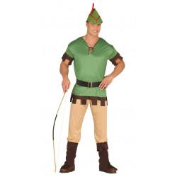 Disfraz de arquero adulto. Disfraz de Robin Hood para adulto