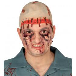 Calva Zombie Terror de Látex - Alta Calidad