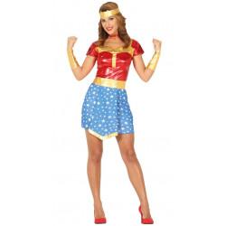 Disfraz de Superheroína adulta. Traje de Wonder Woman Clásica