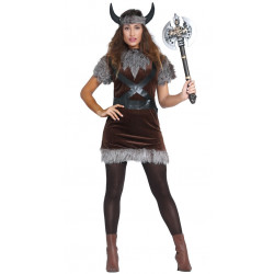 Disfraz de Vikinga Mujer. Disfraz de guerrera nórdica para adulta