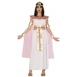 Disfraz de Egipcia Adulta. Vestido blanco de Cleopatra