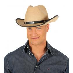 Sombrero cowboy rodeo marrón claro