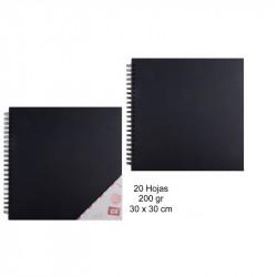 Álbum para scrapbooking negro 30x30 cm 20 hojas