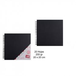 Álbum para scrapbooking negro 20x20 cm 20 hojas