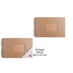 Álbum de scrapbooking kraft A4 200 hojas