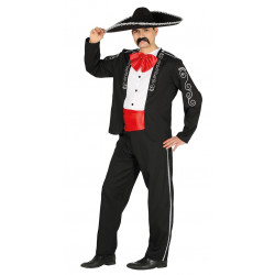 Disfraz de mariachi mejicano para adulto. Traje tradicional mexicano