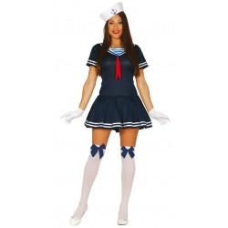 Disfraz de marinera sexy para adulto. Uniforme de marinera para mujer