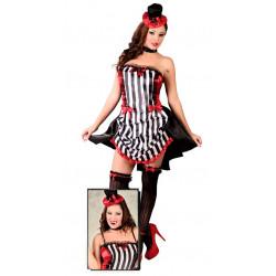 Disfraz Burlesque para mujer. Vestido de Cabaret para carnavales