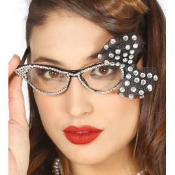 Gafas de Secretaria de los Años 50's - Gafas con Lazo Plata