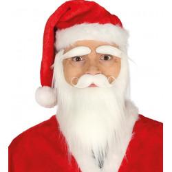 Barba Blanca con Cejas y Bigote - Barba Papá Noel