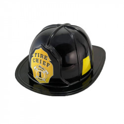 Casco de Bombero Negro Infantil - Casco 'Fire Chief'