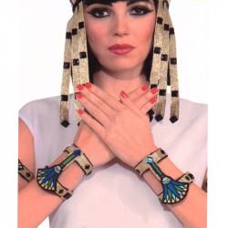 Pulseras Egipcias de Tela - Disfraz Cleopatra
