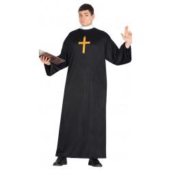 Disfraz de cura para adulto. Disfraz de sacerdote para adulto