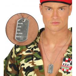 Colgante chapa militar de identificación