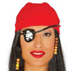 Parche pirata de tela. Parche pirata con calavera