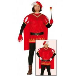 Disfraz de principe medieval rojo para Adulto