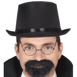 Sombrero chistera negra años 20's para adulto