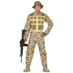disfraz de soldado del desierto para adulto. Disfraz militar para hombre