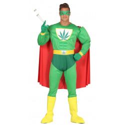Disfraz de superhéroe marihuana adulto