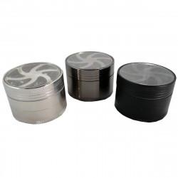 Molinillo de Tabaco de Metal, 4 Piezas