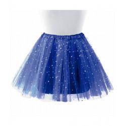 Tutú con Estrellas Infantil, Azul Oscuro - Falda de Tul 30cm
