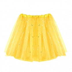 Tutú con Estrellas Infantil, Amarillo - Falda de Tul 30cm