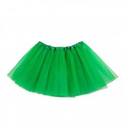 Tutú Infantil Verde Oscuro - Falda de Tul 30cm