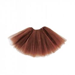Tutú Infantil Marrón - Falda de Tul 30cm