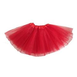Tutú Infantil Rojo - Falda de Tul 30cm