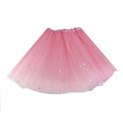 Tutú con Estrellas Infantil Rosa - Falda de Tul 30cm
