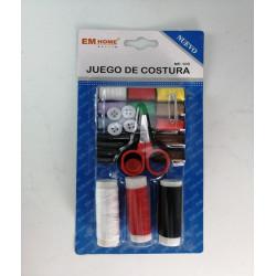 Set de costura básico hilos, tijeras, botones. 25 piezas