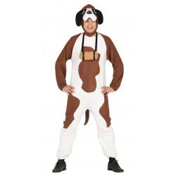 Disfraz de perro San Bernardo para adulto. Pijama de perro para hombre