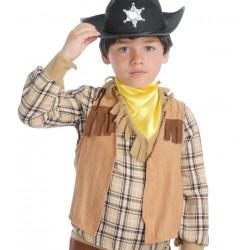 Chaleco cowboy infantil marrón