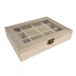 Caja Organizadora de Madera 20*15 cm Multiusos. Caja joyero bisutería