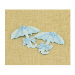 Sombrilla Azul para Recuerdo de Bautizo