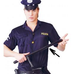 Porra de policía con mango, PVC 58 cm