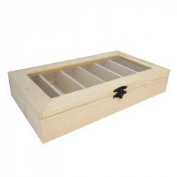 Caja Organizadora de Madera 25,5*14,5 cm Multiusos. Caja alhajero bisutería