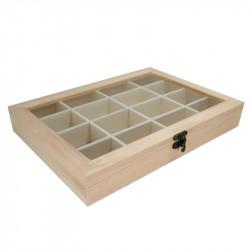 Caja Organizadora de Madera 28*20 cm Multiusos. Caja alhajero bisutería