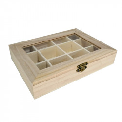 Caja Organizadora de Madera 28x22 cm Multiusos. Caja alhajero bisutería