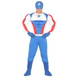Disfraz de Capitán Superstar Musculoso adulto. Disfraz de Capitán América