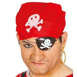 Conjunto Pirata Parche, Pañuelo y Pendiente