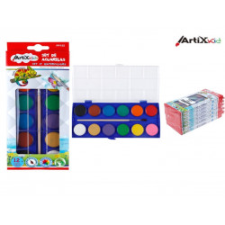 Set Plascolor Acuarela, 12 Colores