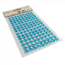 Pegatinas Brillantes Strass Azul Celeste de 8 mm, 135 Pcs. Pegatinas DIY