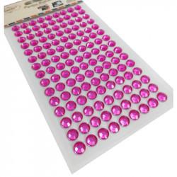Pegatinas Brillantes Strass Fucsia de 8 mm, 135 Pcs. Pegatinas DIY