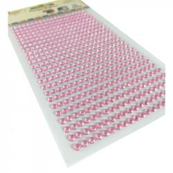 Pegatinas Brillantes 4 mm, 480 unidades. Strass Rosa Pastel para DIY