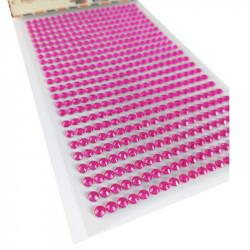 Pegatinas Brillantes 4 mm, 480 unidades. Strass Fucsia para DIY