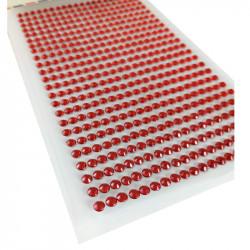 Pegatinas Brillantes 4 mm, 480 unidades. Strass Rojo para DIY