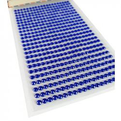 Pegatinas Brillantes 4 mm, 480 unidades. Strass Azul para DIY