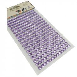 Pegatinas Brillantes 6 mm, 234 unidades. Strass Lila para DIY