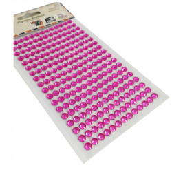 Pegatinas Brillantes 6 mm, 234 unidades. Strass Fucsia para DIY